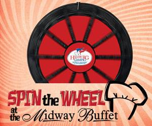 Spin the Wheel at the Midway Buffet